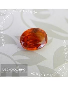 Натуральный оранжевый кианит (дистен) из Танзании огранка овал 6,64x5,29мм 0,97 карат (Драгоценный камень)