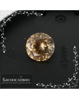 Натуральный золотистый циркон (жаргон) со Шри-Ланки смешанной огранки в Баснословно 7,86x7,72мм 2,72 карата (Драгоценный камень)