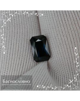 Натуральный тёмно-синий турмалин индиголит из Афганистана огранки октагон 8,64x5,61мм 2,2 карата (драгоценный камень)