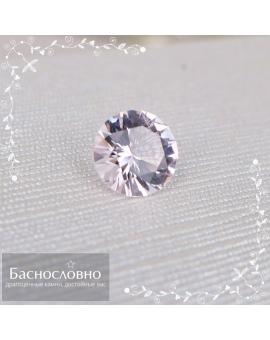 Натуральный воробьевит (морганит, розовый берилл) из Мозамбика огранки в Баснословно бриллиантовый круг Кр57 9,06x9,04мм 2,36 карата (драгоценный камень)