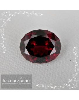 Сертифицированный натуральный насыщенно-красный гранат альмандин из Мозамбика огранки Баснословно овал 11,64x9,45мм 5,73 карат (драгоценный камень)