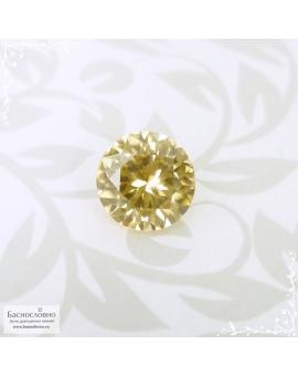 Натуральный золотистый циркон (жаргон) со Шри-Ланки хорошая огранка в Баснословно 7,7мм 2,71 карата (Драгоценный камень)