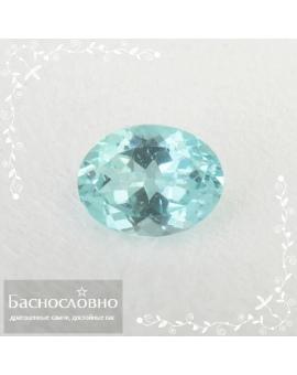 Натуральный зеленовато-голубой апатит из Мадагаскара огранка овал 9,12x7,01мм 2,15 карата (Драгоценный камень)