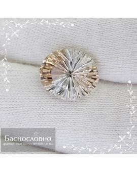 Натуральный винный топаз из Украины фантазийной огранки Баснословно 11,99×11,95мм 10,2 карат (Драгоценный камень)