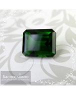Натуральный тёмно-зелёный хромдиопсид (сибирлит, инаглит) из России (Якутия) огранка октагон 10,17x8,15мм 4,57 карат (Драгоценный камень)