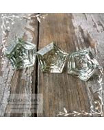 Гарнитур сертифицированных пастельно-зелёных аметистов (празиолитов) из Бразилии огранка Знак качества 13мм 15,88 карат