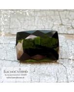 Болотно-зелёный турмалин (верделит) из Бразилии огранка октагон 14x10мм 6.16 карата (Драгоценный камень)