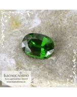 Насыщенно-зелёный циркон (азорит) из Танзании огранка овал 7,7x5,6мм 1,46 карат