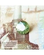 Зелёный демантоид из Мадагаскара огранка круг 5,82мм 0,92 карата