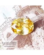 Золотисто-жёлтый циркон (жаргон) со Шри-Ланки огранка овал 11,01×8,2мм 3,93 карата