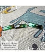 Гарнитур три полихромных зелёно-болотных турмалина из Бразилии огранка октагон 13,12х4,75 14,48х4,54 15,13х4,49мм 6.1 карат (Драгоценный камень)