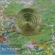 Натуральный светло-жёлтый цитрин из Бразилии огранки круг Кадыковский карьер 26мм 45,7 карат (Драгоценный камень)