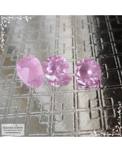 Пара натуральных туманно-розовых шпинелей из Вьетнама отличной огранки Баснословно бриллиантовая Кр57 круг 5,47x5,42 5,46x5,39мм 1,45 карат (Драгоценный камень)
