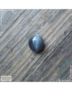 Сертифицированный натуральный зеленовато-серый хризоберилл (цимофан) из Шри-Ланки хорошая полировка овал кабошон 5,76×5,08мм 0,99 карата (Драгоценный камень)