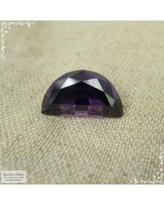Сертифицированная натуральная фиолетовая шпинель из Танзании (Тундуру) огранка в Баснословно полумесяц 11,87×6,75 мм 3,14 карата (Драгоценный камень)