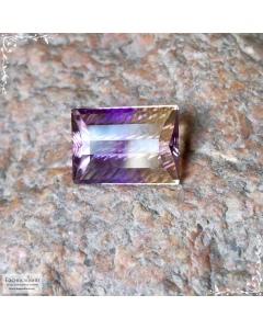 Натуральный аметрин из Боливии огранка в Баснословно октагон с насечками 16,99×11,99мм 10,99 карат (Драгоценный камень)