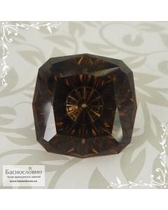 Натуральный тёмно-коричневый дымчатый кварц (раухтопаз) из Бразилии авторская огранка Баснословно антик с вогнутым шипом 18мм 23,16 карат (Драгоценный камень)