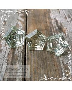 Гарнитур натуральных сертифицированных пастельно-зелёных аметистов (празиолитов) из Бразилии огранка Знак качества 13мм 15,88 карат (драгоценные камни)