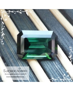 Зелёный турмалин (верделит) из Малави огранки Баснословно октагон 10,76×7,48мм 3,3 карата