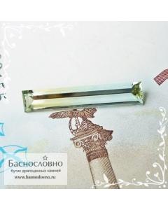 Полихромный берилл (гелиодор-аквамарин) из России огранка багет 22,06x4,2мм 2,58 карат