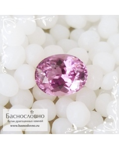 Розовая шпинель из Шри-Ланки огранка овал 7,66x6,05мм 1,47 карат