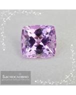 Натуральный пурпурновато-розовый кунцит (сподумен) из Афганистана огранки кушон 12,78x11,97мм 11,98 карат (Драгоценный камень)