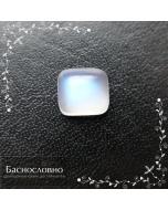 Натуральный лунный камень адуляр из Танзании с синей адуляресценцией огранки Баснословно кабошон прямоугольник 9,42x8,61мм 3,33 карата (драгоценный камень)