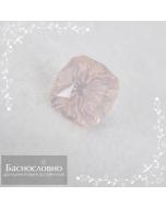 Натуральный пастельно-розовый кварц из Бразилии огранки в Баснословно фантазийный антик 10,05x10,02мм 4,54 карата (Драгоценный камень)