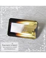 Натуральный полихромный раухцит из Бразилии хорошая огранка октагон 29x17,5мм 46.02 карат (драгоценный камень)