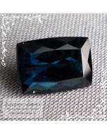 Сертифицированный натуральный синий турмалин (индиголит, индиколит) из Афганистана огранка октагон 11,5x8мм 4.58 карата (драгоценный камень)
