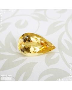 Необлагороженный золотистый топаз империал из Бразилии огранка груша 11,7x7,12мм 2,67 карата
