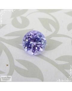 Сине-фиолетовый танзанит из Танзании огранка круг 5,91x5,87мм 1,05 карат (Драгоценный камень)