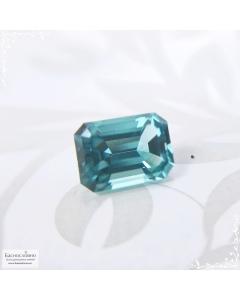 Сертифицированный зеленовато-голубой турмалин (индиголит, индиколит) из Афганистана огранки в Баснословно октагон 5,54×4,13 мм 0,51 карата