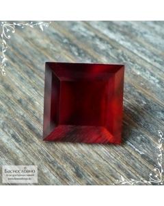 Оранжево-красный гранат гессонит из Мьянмы (Бирма) отличной огранки Баснословно квадрат 9,97x9,94мм 7,54 карат (Драгоценный камень)