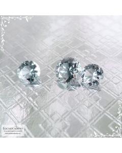 Гарнитур три серых шпинели из Танзании (Махенге) огранки Баснословно бриллиантовый Кр57 круг 6 5,09×5,06 5,09×5,06мм 2,31 карата