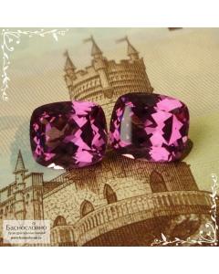 Пара насыщенно-розовых родолитов из Танзании огранка Баснословно антик 9,98×8,53 9,88×8,48мм 7,6 карата