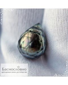 Натуральный чёрный жемчуг с Таити огранка в Баснословно 14,66х11,09мм 10,59 карат (драгоценный камень)
