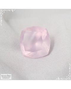 Пастельно-розовый кварц из Бразилии отличная огранка Баснословно антик 15