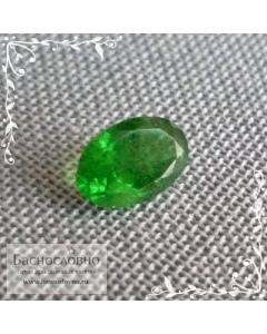 Зелёный цаворит (тсаворит) из Кении огранка овал 6x4мм 0,44 карата