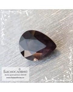 Серо-сиреневый гранат с александритовым эффектом с Мадагаскара огранка груша 7x5мм 1,06 карат