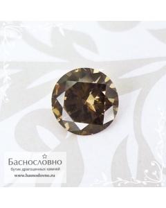 Бежевый гранат с александритовым эффектом из Танзании огранка Баснословно бриллиантовая Кр57 круг 6,3мм 1,02 карата